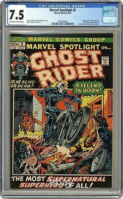 Marvel Spotlight #5 CGC 7.5 1972 3922849001 1st app. And origin Ghost Rider