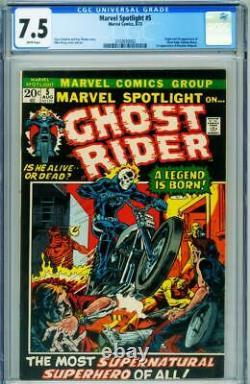 Marvel Spotlight #5 CGC 7.5 1st appearance Ghost Rider comic 1972 2102650002