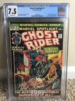 Marvel Spotlight #5 CGC 7.5 OW Pages 1st Appearance Of Ghost Rider/Johnny Blaze