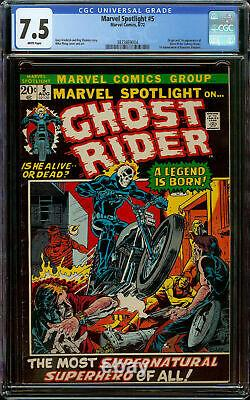 Marvel Spotlight #5 CGC 7.5 White Pages 1st Appearance + Origin of Ghost Rider