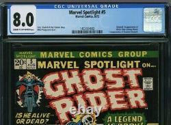 Marvel Spotlight 5 CGC 8.0 1st Ghost Rider Johnny Blaze App. 1403004002