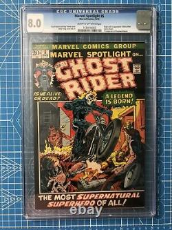 Marvel Spotlight 5 CGC 8.0 1st Ghost Rider Old Label Never Cleaned Or Pressed