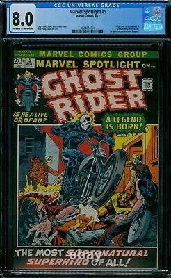 Marvel Spotlight 5 CGC 8.0 1st Ghost Rider owithw pages