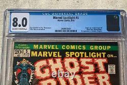 Marvel Spotlight #5 CGC 8.0 / Origin & 1st appearance Johnny Blaze/Ghost Rider