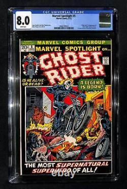 Marvel Spotlight #5 CGC 8.0 Origin and 1st appearance of Ghost Rider
