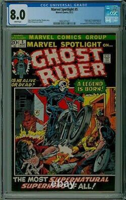 Marvel Spotlight #5 CGC 8.0 VF white pages 1st GHOST RIDER Marvel 3893287007