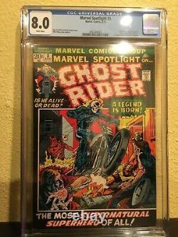 Marvel Spotlight #5 CGC 8.0 White Pages 1st Johnny Blaze Ghost Rider 1972