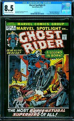 Marvel Spotlight 5 CGC 8.5 1st Ghost Rider owithw pages
