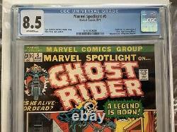 Marvel Spotlight #5 CGC 8.5 Origin & 1st Appearance the Ghost Rider Johnny Blaze
