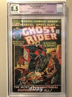Marvel Spotlight 5 CGC 8.5 Purple 1st Appearance/Origin Ghost Rider Johnny Blaze