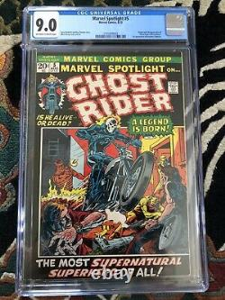 Marvel Spotlight #5 CGC 9.0 OW-White Pages 1st Appearance Of Ghost Rider