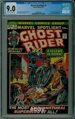 Marvel Spotlight #5 CGC 9.0 VF/NM 1st GHOST RIDER Marvel comics 3839685004
