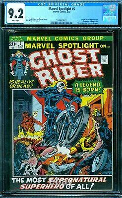 Marvel Spotlight 5 CGC 9.2 1st Ghost Rider White Pages