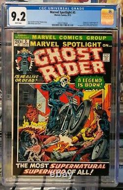 Marvel Spotlight #5 CGC 9.2 White Pages 1st Johnny Blaze! OMG