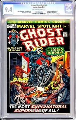 Marvel Spotlight #5 CGC 9.4 (1972) 1st app Ghost Rider & Johnny Blaze rare MCU