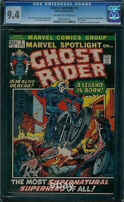 Marvel Spotlight 5 CGC 9.4 1st Ghost Rider owithw pages