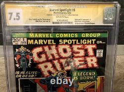 Marvel Spotlight 5 CGC SS 1st Ghost Rider Stan Lee Roy Thomas