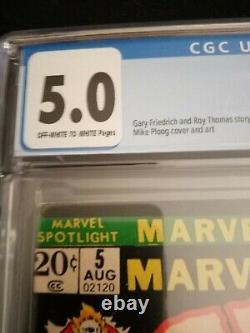 Marvel Spotlight 5 Cgc 5.0 1st Appearance Ghost Rider Comic Book