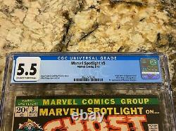 Marvel Spotlight #5 Cgc 5.5 Ow-white Pgs 1st Ghost Rider Johnny Blaze Mcu Grail
