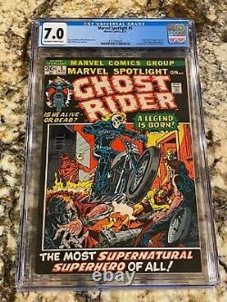 Marvel Spotlight #5 Cgc 7.0 Looks Nicer 1st Ghost Rider Johnny Blaze Mcu Grail