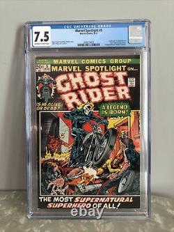 Marvel Spotlight 5 Cgc 7.5 1st Appearance Ghost Rider Comic Book