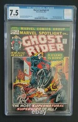 Marvel Spotlight #5 Cgc 7.5 1st Ghost Rider/johnny Blaze Keanu Coming