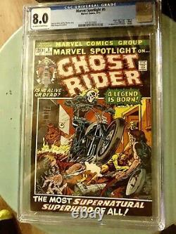 Marvel Spotlight #5 Cgc 8.0 (vf) (1st App Ghost Rider Johnny Blaze)new Movie