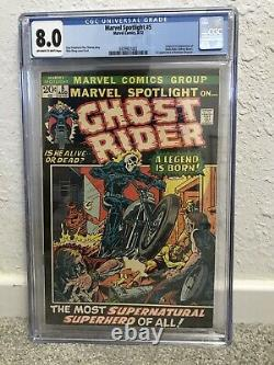 Marvel Spotlight #5 Cgc 8.0 (vf) Ow-white (1st App Ghost Rider Johnny Blaze)