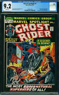 Marvel Spotlight #5 Cgc 9.2 White Origin And 1st App Ghost Rider #3738531002