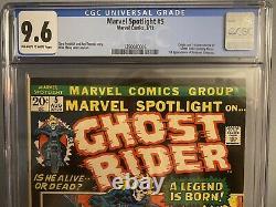 Marvel Spotlight #5 Cgc 9.6 1st Ghost Rider Johnny Blaze Mcu Grail Key! Hot