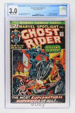 Marvel Spotlight #5 Marvel 1972 CGC 3.0 Origin & 1st App of Ghost Rider