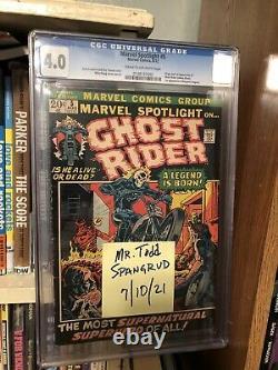 Marvel Spotlight #5 Marvel 1972 CGC 4.0 Origin & 1st Appearance of Ghost Rider