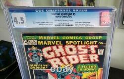 Marvel Spotlight #5 Marvel 1972 CGC 4.5 Origin & 1st Appearance of Ghost Rider