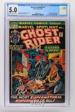 Marvel Spotlight #5 Marvel 1972 CGC 5.0 Origin & 1st Appearance of Ghost Rider