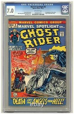 Marvel Spotlight #6 (CGC 7.0) 2nd app. Ghost Rider Origin retold Mike Ploog B564