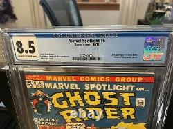 Marvel Spotlight #6 CGC 8.5 2nd appearance Ghost Rider