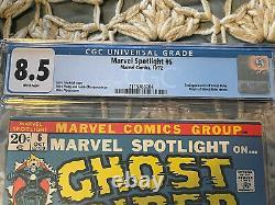 Marvel Spotlight #6 CGC 8.5 White Pages 2nd GHOST RIDER/ORIGIN Unpressed