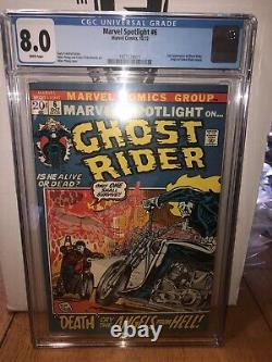 Marvel Spotlight 6 Cgc 8.0 WHITE PAGES 2nd Ghost Rider N Origin Retold