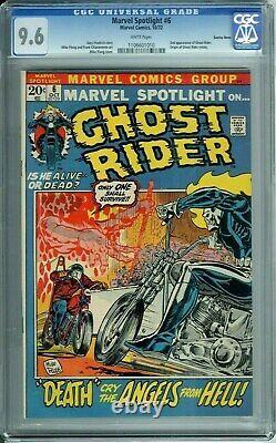 Marvel Spotlight #6 Cgc 9.6 White Pages 2nd App Ghost Rider Suscha News Pedigree