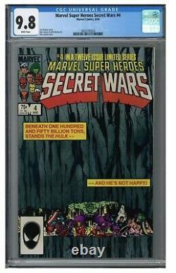 Marvel Super Heroes Secret Wars 4 (1984) Classic Layton Cover CGC 9.8 Graded