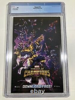 THANOS #13 CGC 9.6 NM/M 1st App Cosmic Ghost Rider 1st Print Donny Cates