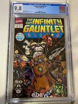 The Infinity Gauntlet #1 CGC 9.8, 1991, HUGE MARVEL COMIC KEY STORY, MCU