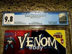 Venom Lethal Protector #1 Red Holo Grafix Foil Cover Spiderman CGC Graded 9.8