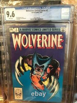 WOLVERINE Limited Series #1-4 1, 2, 3, 4 All CGC 9.6 White Pages! Miller Set