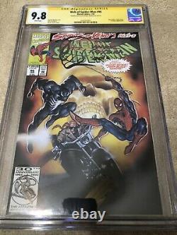 Web Spider Man 96 CGC SS 9.8 Mark Texeira 1/93 art sketch Venom vs Ghost Rider