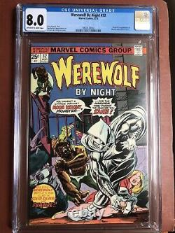 Werewolf By Night 32 CGC 8.0 OWithW Moon Knight 1st App New Case SWEET Bronze Key
